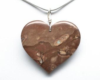 Picture Jasper Pendant - Heart