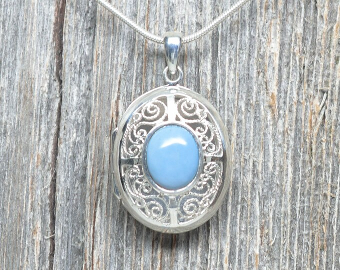 Leland Blue Locket Pendant - Sterling Silver