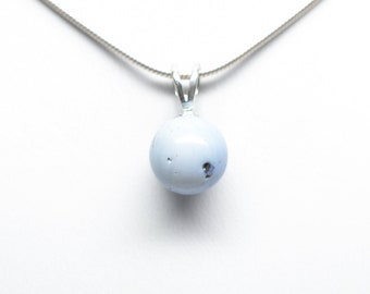 Leland Blue (Pioneer Swirl) Pendant - Sterling Silver - 10mm Round