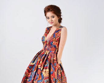 ad6cb4acaa Deep V Neck Long Asymmetric Dress