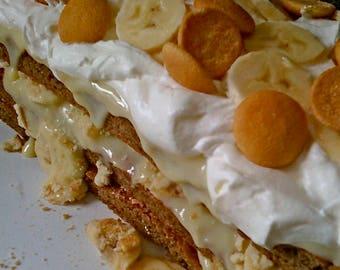 Banana Pudding Cake Recipe-- Handwritten Copy