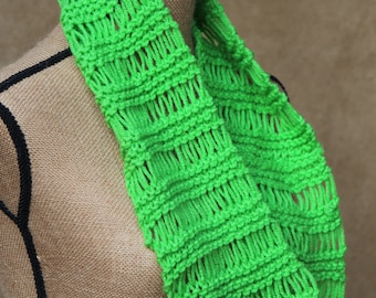 INFINITY SCARF..Lime Green...Soft...Long...Ready to Ship