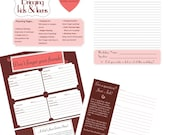 Digital Printable Homeschool Conference Planner and Homeschool Curriculum Shopping Planner