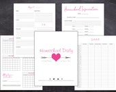 Homeschool Daily Planner Non-Dated Printable Pink and Gray