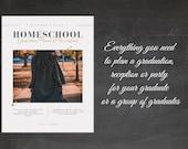 Homeschool Graduation Planner and Workbook Ceremony Party Planner Senior Year