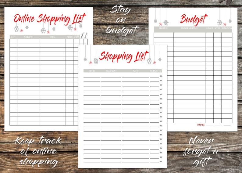 2019 Christmas Planner Printable Holiday Planner Weekly image 0