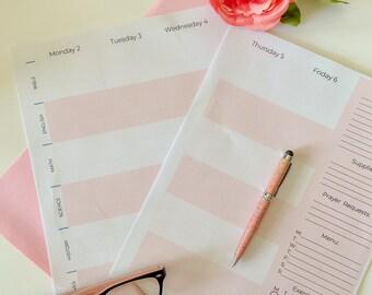 2021 Homeschool Weekly Planner Printable Digital Homeschool Organization