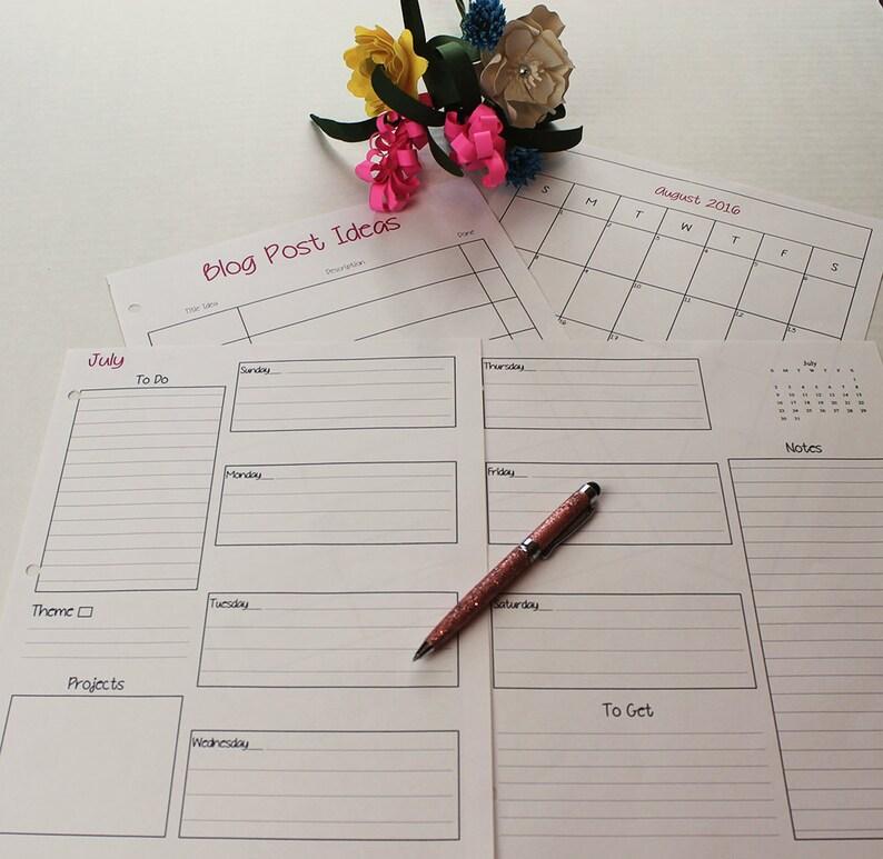 The Simple Life Blog Planner Printable Digital Planner image 0