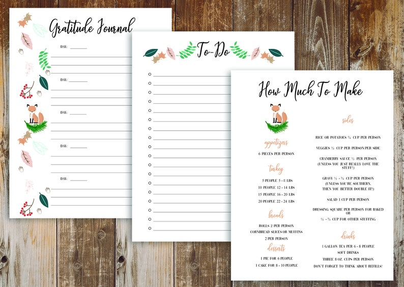 Thanksgiving Planner with free Black Friday Planner to help you plan the best Thanksgiving ever.