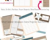 Digital Printable Homeschool and Life Planner