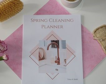 Spring Cleaning Checklist Planner for Deep Cleaning Printable