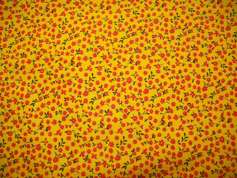 60s Assorted Calico REMNANTS Vintage Fabric Destash
