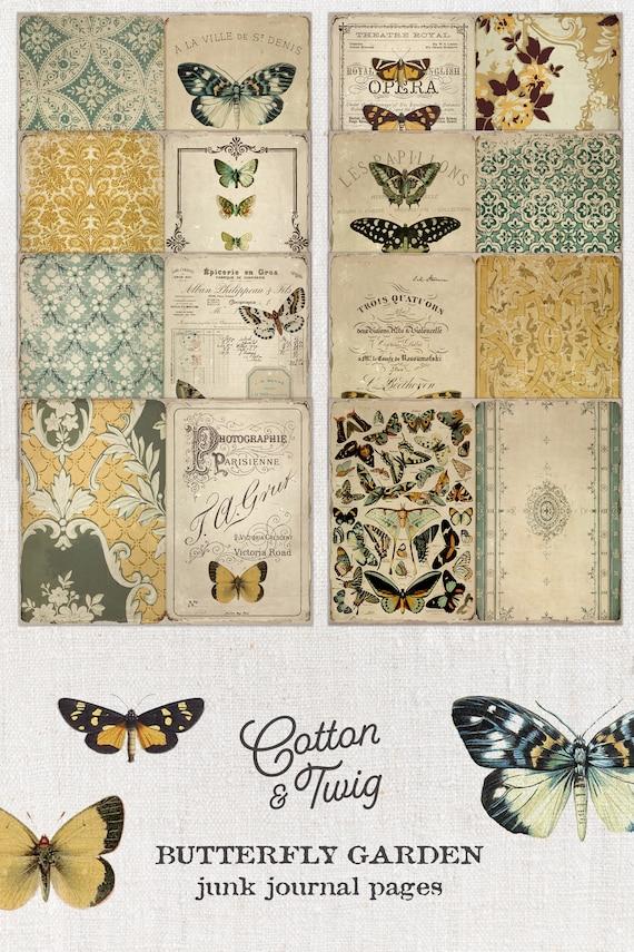 Vintage Travelers Pocket Junk Journal Butterfly