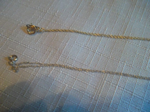 Two 10K Gold Pendant Chains