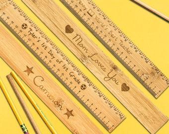 Wooden Ruler Etsy
