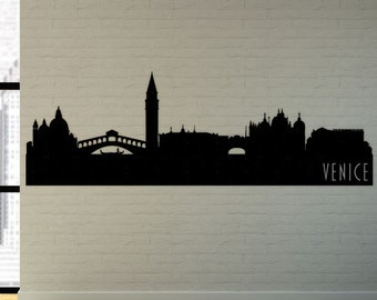 Venice City Skyline Decal, Venice Italy State Wall Decal, Venice Skyline, Wall Art, Wall Decor, Wall Decals, Housewarming Gift