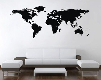World map decal etsy world map wall art large world map world wall map world map wall world map decal world map mural world map artwork wall decals gumiabroncs Images
