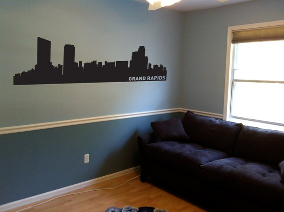 Grand Rapids City Skyline Decal Grand Rapids MI Wall Decal | Etsy