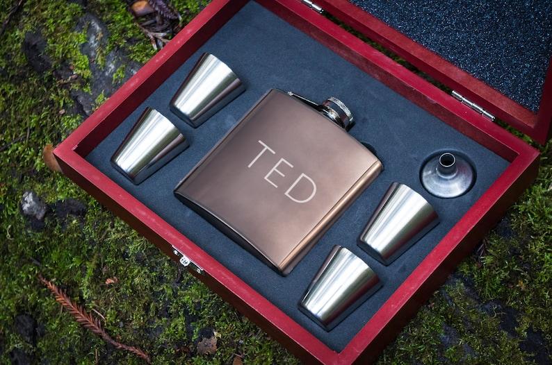 engraved flask and shot set - boyfriend graduation idea