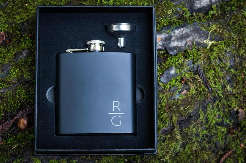 Groom Gifts The Personalized Gift Co Groomsmen Proposal Gift Bags//Box Engraved Groomsman Gifts for Wedding Will You Be My Groomsman Flask /& Lighter