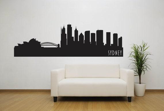 sydney city skyline decal sydney australia state wall decal | etsy