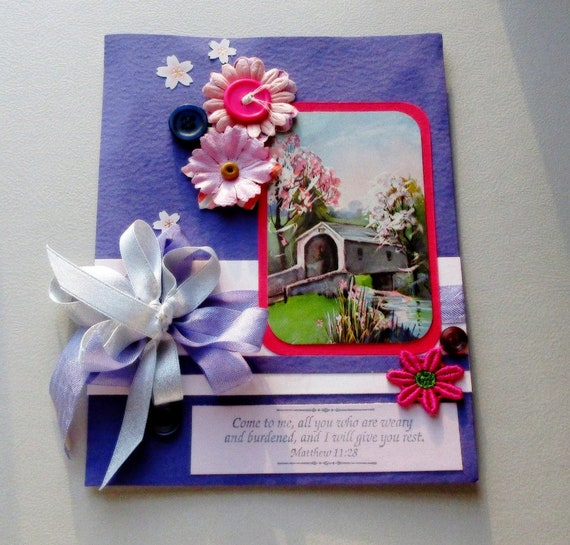 Handmade sympathy card scripture style greeting card etsy image 0 m4hsunfo