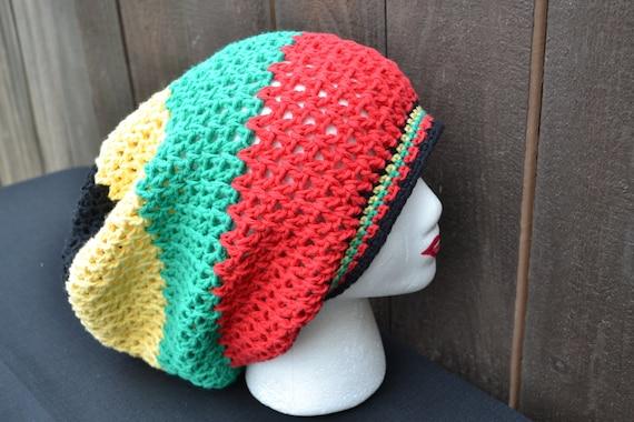 estremamente unico vendite calde professionale più votato Uncinetto cappello Rasta - Rasta Tam - Tam Dread - Rastafari - Slouchy  Beanie - Festival di musica - moda per l'estate
