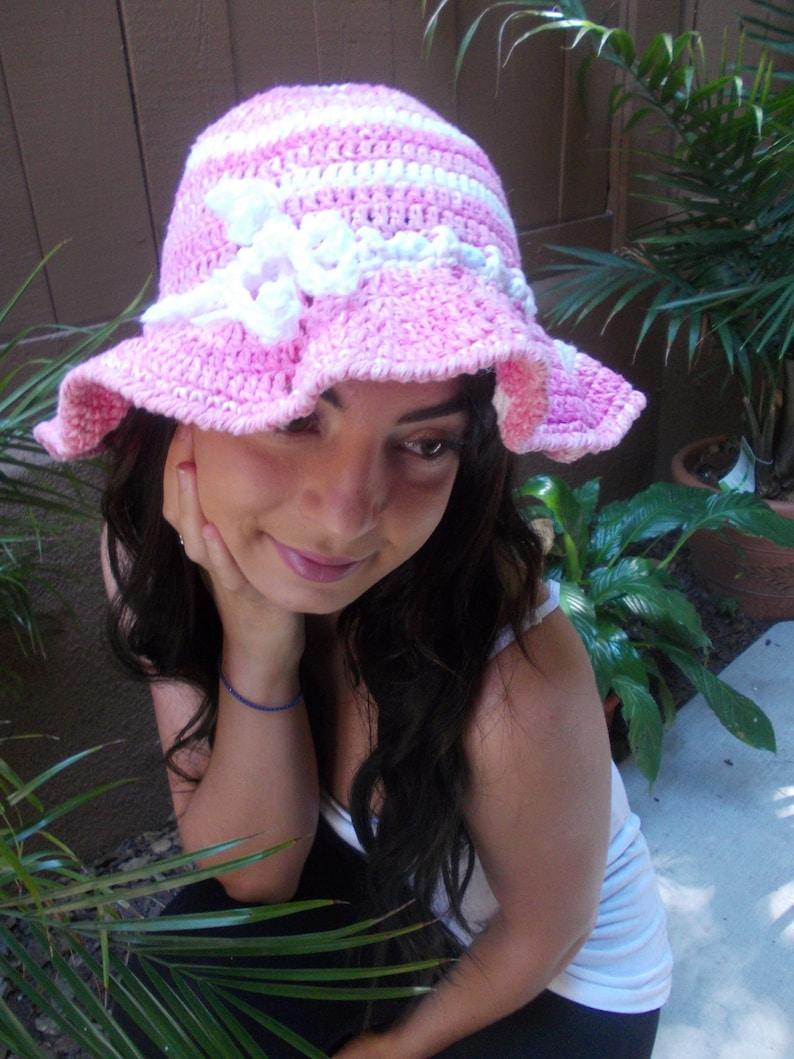 Crochet Sun Hat Floppy Hat Brimmed Crochet Hat Fashion Accessories Pink Summer Hat Beach Hat