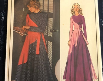 Vintage 1970s vogue 1552 Paris original Yves Laurent dress and jacket sewing pattern size 14 last 36