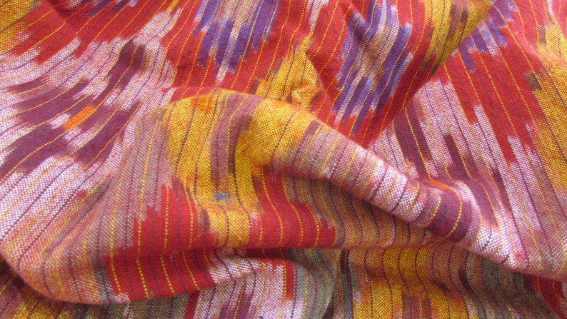 Vintage Bright Red Purple /& Gold Southwestern LightWeight Cotton Mini Striped Fabric 45W X Price Per Yard-southwestern fabric shirt fabric