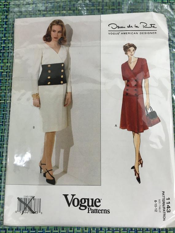 1990\'s Vogue Sewing Pattern 1143 by Oscar de la Renta | Etsy