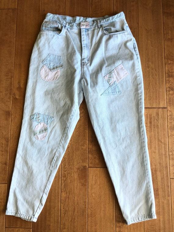 Vintage 1990's Gitano Jeans Pastel Patchwork High