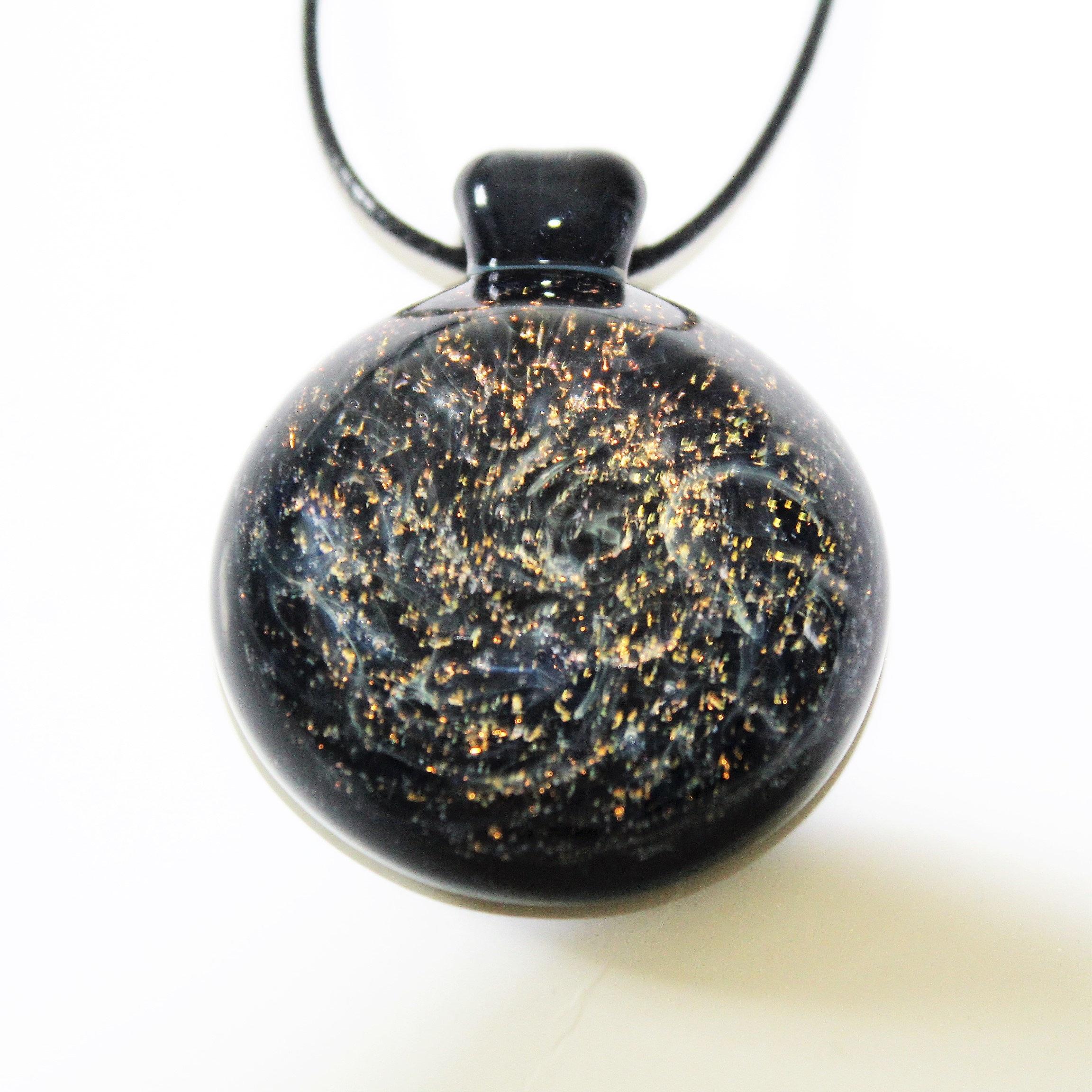 heady glass pendant galaxy blown glass necklace jewelry handmade heady glass gift for him trippy glass pendant gift her birthday - Heady Glass Pendants