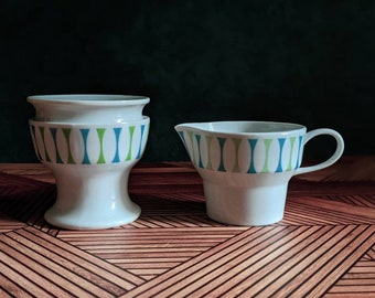 Paul McCobb Jackson International Contempri Eclipse creamer and sugar bowl