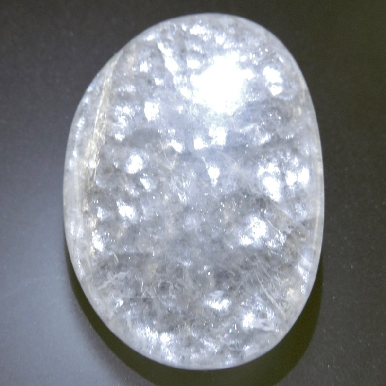 Bubble Opal Cabochon Ichthyescent Opalite Cab White Shimmery image 0