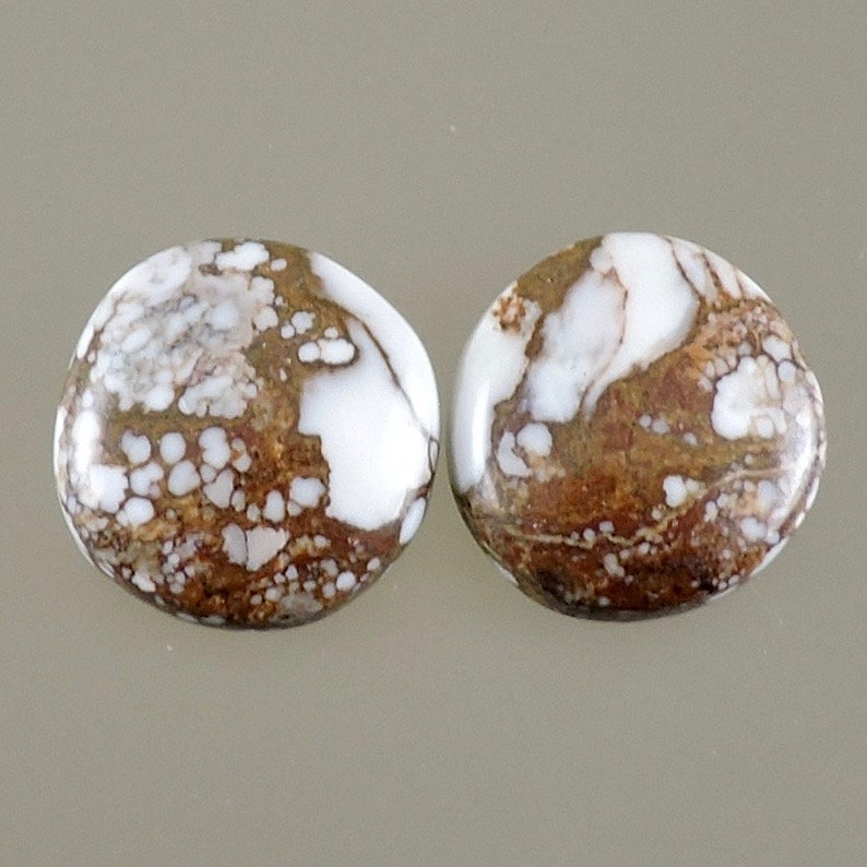 Wild Horse Cabochons Wild Horse Earring Cabs White and image 0