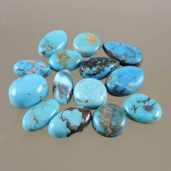 30X14X5 mm Natural Arizona Turquoise  Marquise Shape Cabochon Loose Gemstone Gift Turquoise Crystal Rare Turquoise Jewelry Making Cabs