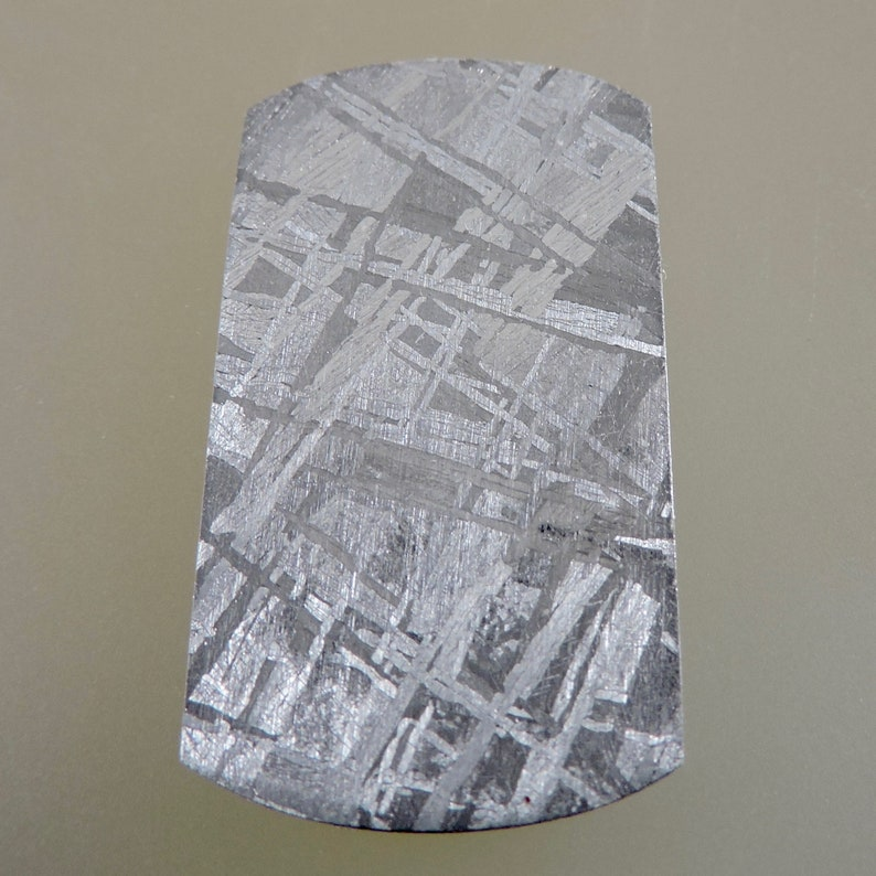 Meteorite Cabochon Meteorite Sliced and Etched Cabochon image 0