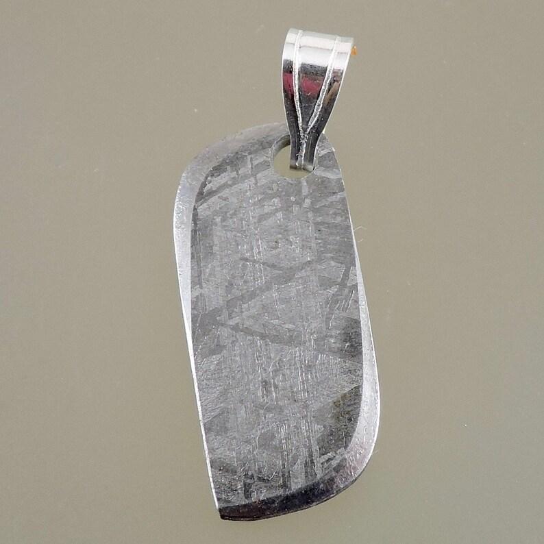 Meteorite Pendant Meteorite Pendant with Sterling Silver image 0