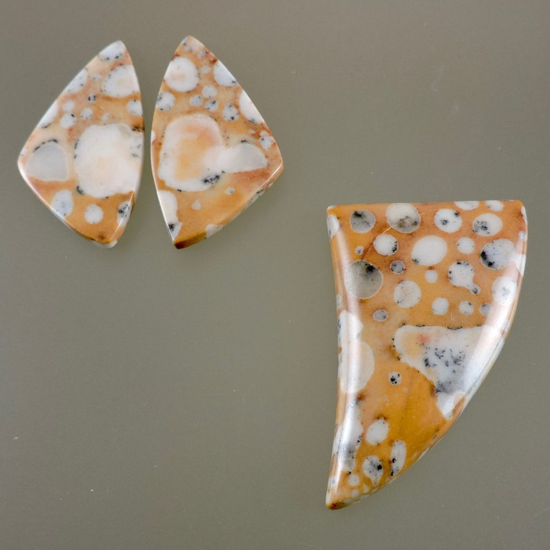 Fawn Stone Cabochons Fawn Stone Cabs Cabochon Pendant image 0