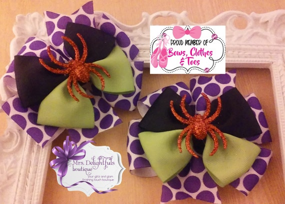purple boutique bow, Halloween bow,stacked bow, baby bow, hair bow, accessories, hair clip, heart bow , purple bow, bow, layered bow