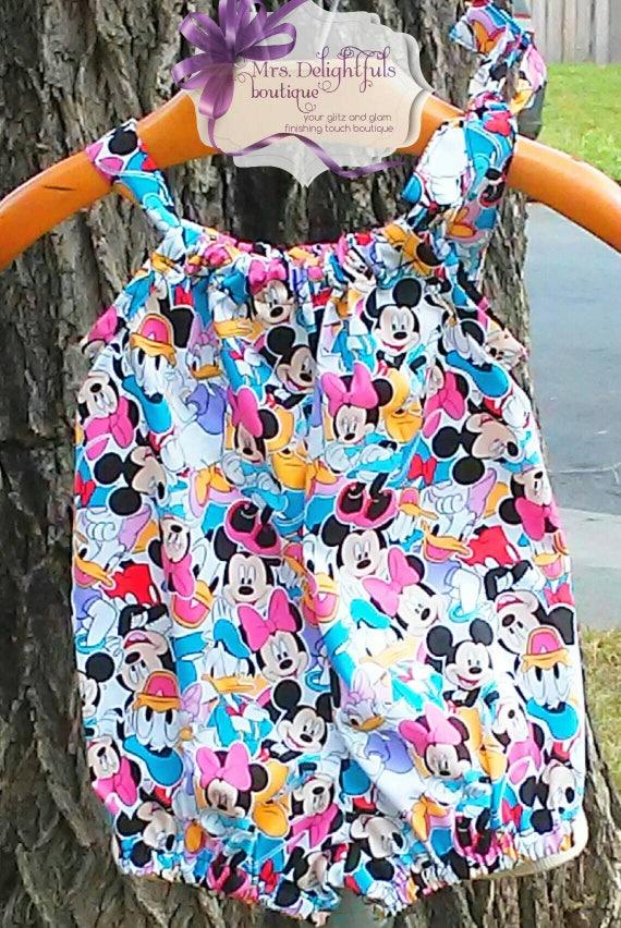 Disney inspired romper,baby romper,toddler romper,knit romper,bow romper,modern romper,classic romper,1st birthday,sleeveless romper