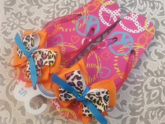 boutique bow custom boutique fancy flip flops baby shoes