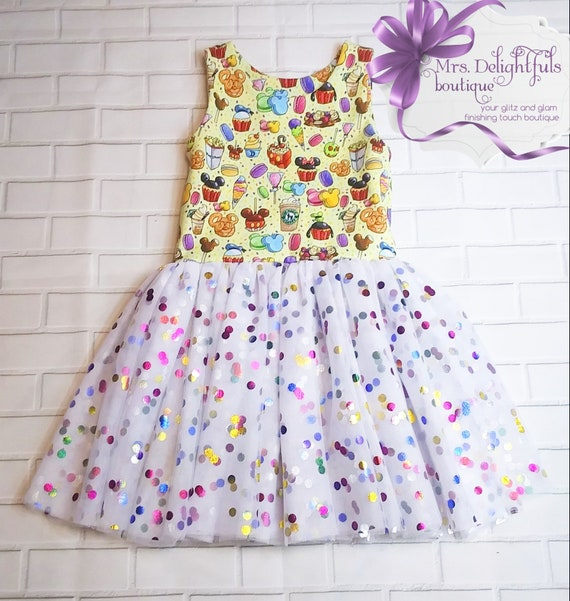Disney inspired dress,baby dress,toddler dress,knit dress,disney snacks inspired ,classic dress,1st birthday,sleeveless dress