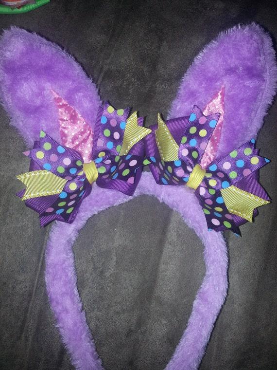 bunny ear headband with bows