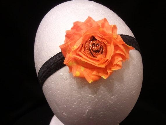 Halloween headband / orange- yellow or orange or black-orange