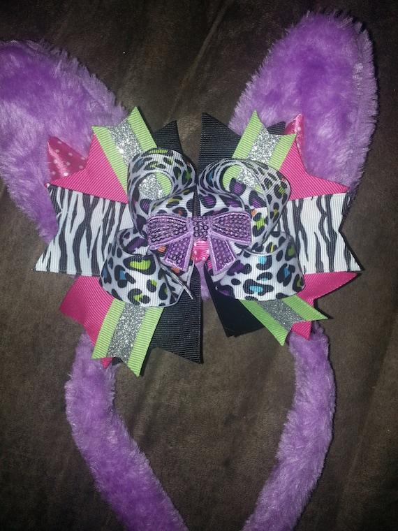 bunny ear headband with bow