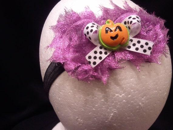 Giltter Girly Purple Halloween Headbands