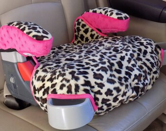 Car Accessory Booster Seat Replacement Cheetah Print On Cover Padded Graco Turbo Kids And Arm Covers