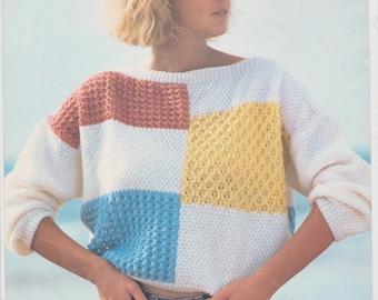 Summer jumper 1980's vintage pattern